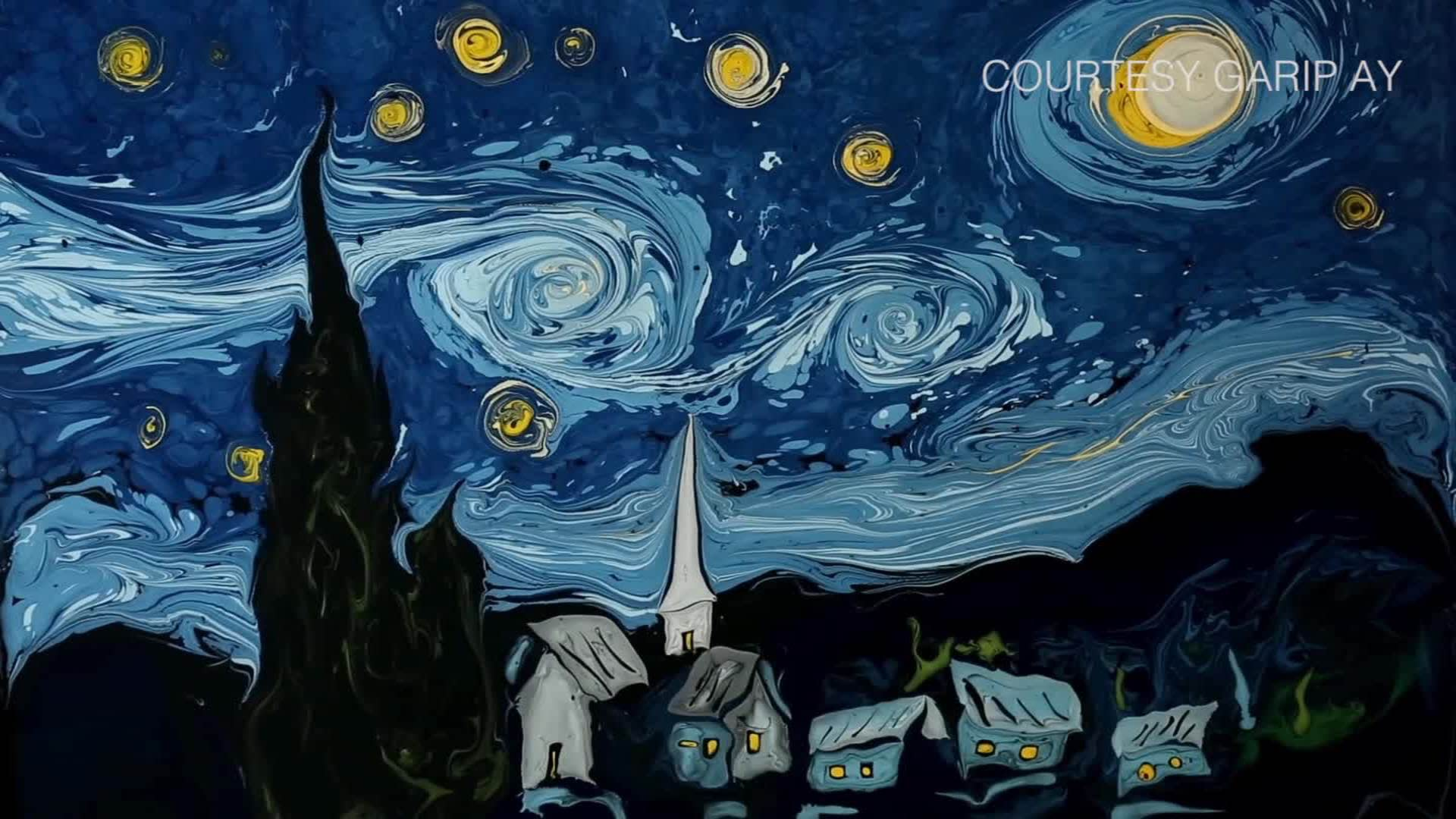Van Gogh Masterpiece Recreated On Water Cnn Style